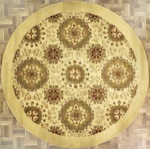 Indian Round Area Rug 45584 area rugs