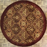 Indian Round Area Rug 45716 area rugs