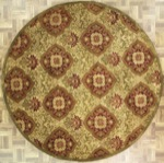 Indian Round Area Rug 46198 area rugs
